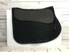 Quilted English Saddle Pad Black