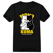 Anime Danganronpa Monokuma Cotton T-Shirts Short Sleeve Cosplay Tee Raglan Tops