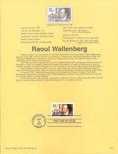 #9711 32c Raoul Wallenberg Stamp #3135 Souvenir Page