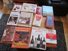 LOT 14 livres sur le vin sommelier guide hachette gault millau etc + de 10 kilos