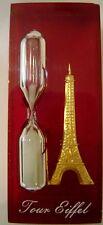 Eiffel Tour 3 minute Hourglass Timer Acrylic Kitchen Paris France Souvenir