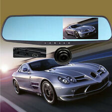 "170°Full HD 1080P 4.3"" Video Recorder Dash Cam Rearview Mirror Car Camera DVR"