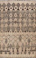 Geometric Moroccan Hand-knotted Berber Oriental Area Rug Wool Modern 8x10 Carpet