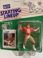 1989 Starting Lineup San Francisco 49ers JOE MONTANA Figure Kenner Card NFL