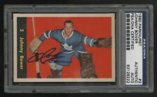 1960-61 PARKHURST HOCKEY~#3~JOHN JOHNNY BOWER~PSA/DNA AUTOGRAPHED/SIGNED