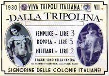 "TARGA VINTAGE ""1930 CASA DI TOLLERANZA COLONIALE"" IMMAGINE RESTAURATA, BROTHEL"