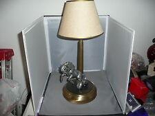 MUSTANG  FOLK ART LAMP  Trench Art style  Mustang Hood Ornament   table lamp