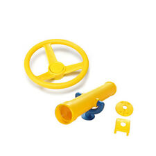 YELLOW Playground Kit STEERING WHEEL YELLOW SPY TELESCOPE Tree Cubby House