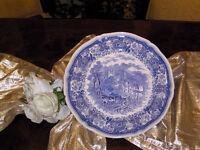 edler Platzteller Pizzateller 31,5 cm Villeroy & Boch Burgenland blau selten N2