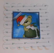 PK 2 BEARY XMAS PUDDING EMBELLISHMENT TOPPERS FOR CARDS AND CRAFTS