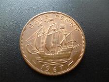 1967 medio centavo, la reina Isabel 2ND, bronce.