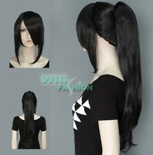 lNew Fashion Long Black Hair Wig With Ponytail  A57