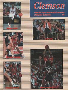 1989-90 Clemson Men's Basketball Yearbook   Dale Davis, Elden Campbell