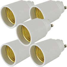 5x Light Bulb Adapter – GU10 Bayonet Male to E27 Edison Socket-Converter 60W LED