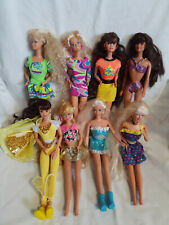 Vtg Barbie Lot 1960's 70's Early 90's Retro Disco 8 Barbie Lot Hot Pink Yellow
