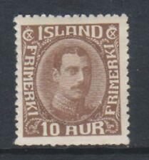 Iceland - 1932, 10a Chocolate stamp - m/m - SG 187