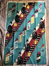 """Vintage ESCALATOR Colorful Wall Tapestry 30 1/2"""" X 19 1/2"""""""