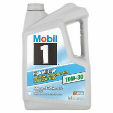 Mobil 1 High Mileage 10W-30 Advanced Full Synthetic Motor Oil, 5 qts