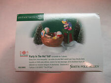 """Dept 56 North Pole Series """"Party in the Hot Tub"""" #56 56802"""