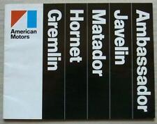 AMERICAN MOTORS AMC USA Sales Brochure 1974 #AMX 7406 MATADOR Gremlin HORNET +