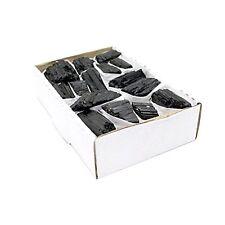 "Black Tourmaline Flat Box - Box Size 7.5x5x2"" Brazilian Stones - Reiki"