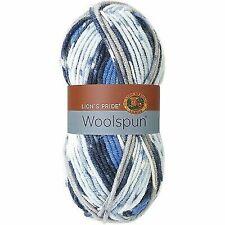 Skeins of Lion BRAND Woolspun Yarn Ocean Print