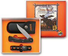 "Marbles Brushy Mountain Survival Set - 3.75"" Folder Knife and Paracord Bracelet"