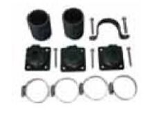 Collector Kit with couplings, hose clamps, strap clips for 2