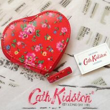 CATH KIDSTON Bramley Sprig Love Heart Shaped Zipped Coin Purse + Gift Bag - NEW