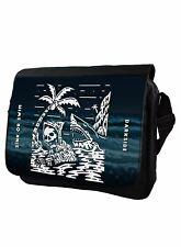 Sink Or Swim Genuine Darkside Reaper Shark Messenger Bag Laptop Bag Schoolbag