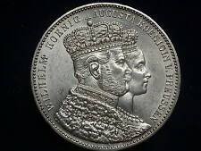 "Vereinstaler 1861 A Wilhelm I Krönungstaler Preussen "" Erhaltung ""  W/15/256/A"