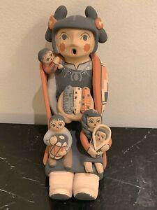 Mother Storyteller Pottery Doll by Jemez Artist by Linda Lucero Fragua