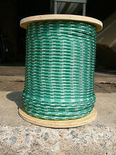 """Sailboat Rigging Rope 5/16"""" x 100' Green/White Double Braided Sheet Halyard Line"""
