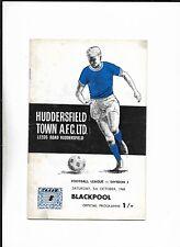 HUDDERSFIELD TOWN V BLACKPOOL 5/10/1968 DIVISION2  (a)
