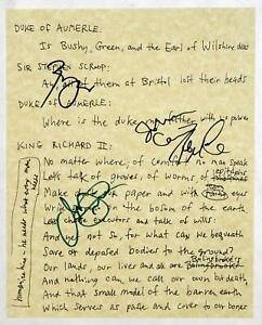 SOMETHING ROTTEN d'Arcy James, Cariani, McClure, Grisetti Signed Richard II prop