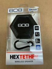 808 Audio Hex Tether Portable Bluetooth Speaker - Black