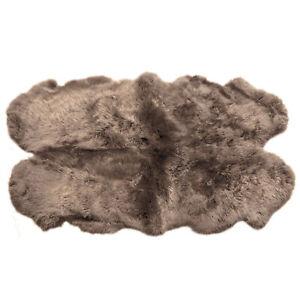 Genuine Sheepskin Rugs Thick Lush Leather Fur Pelt Many Colors + Sizes