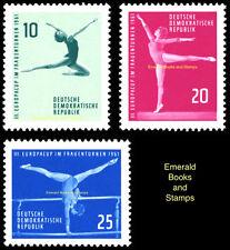 EBS East Germany DDR 1961 Women's Gymnastics European Cup Michel 830-832 MNH**