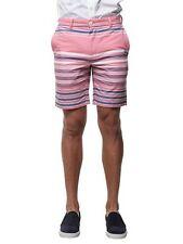 "VINEYARD VINES MENS 34 W NEW $89 SEAWARD STRIPE 9"" Breaker Jetty Red Shorts"
