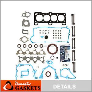 Fit 2005 Hyundai Accent 1.6L DOHC Full Gasket Set Head Bolts Kit G4EC