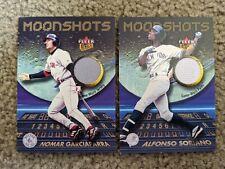 2 cards 2003 Fleer Ultra Moonshots Memorabilia Garciaparra Soriano Game Jersey