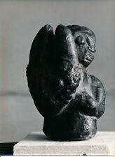 Art Brut Primitif Sculpture Totem Masque Photo P. Joly V. Cardot c. 1970  ART 88