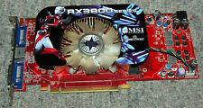 MSI ATI Radeon HD3850 RX3850-T2D256E-OC/D3 256MB GDDR3 PCIe DVI VGA card WORK