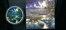 CANADA ANIMALS IN THE MOONLIGHT COUGAR SILVER 30$ 2017 DCB334