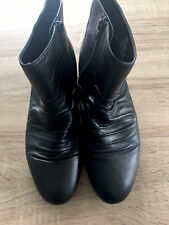 ladies black leather ankle boots size 6.5 Footglove Marks and Spencer