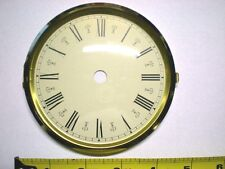 "Case of 5 Hinged Brass Bezel & Glass Dial Size 4-1/2"" Ivory Dial / Roman #s"