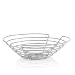 "Blomus WIRES Fruit Basket, 12"" Bowl Stand Display Holder Modern Stainless Steel"