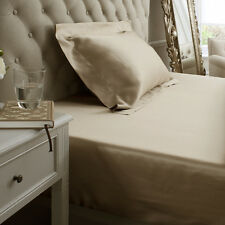 Jasmine Silk Pure Silk Fitted Sheet (Taupe)-KING