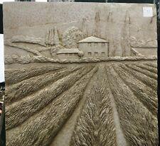 Lavender Farm Concrete Wall Plaque