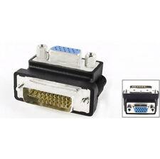DVI to VGA Right Angle Adaptor Converter 90 Degree DVI Male to VGA Female